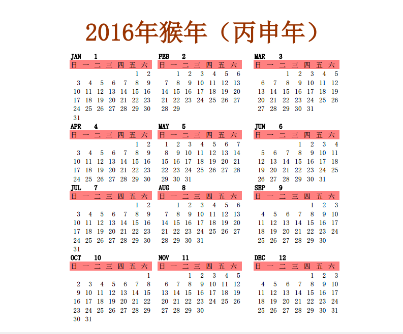 Year View